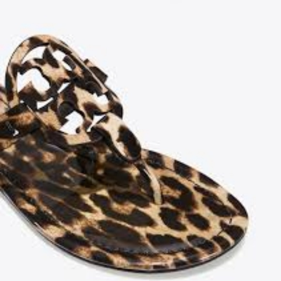 36cd3686586 Tory Burch Natural Leopard Patent Miller 9.5